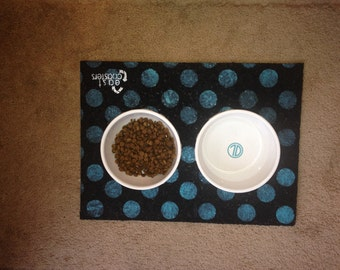 Polka Dot Pet Placemat - Personalization Available!