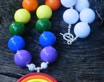 Over the Rainbow Chunky Bubblegum Necklace