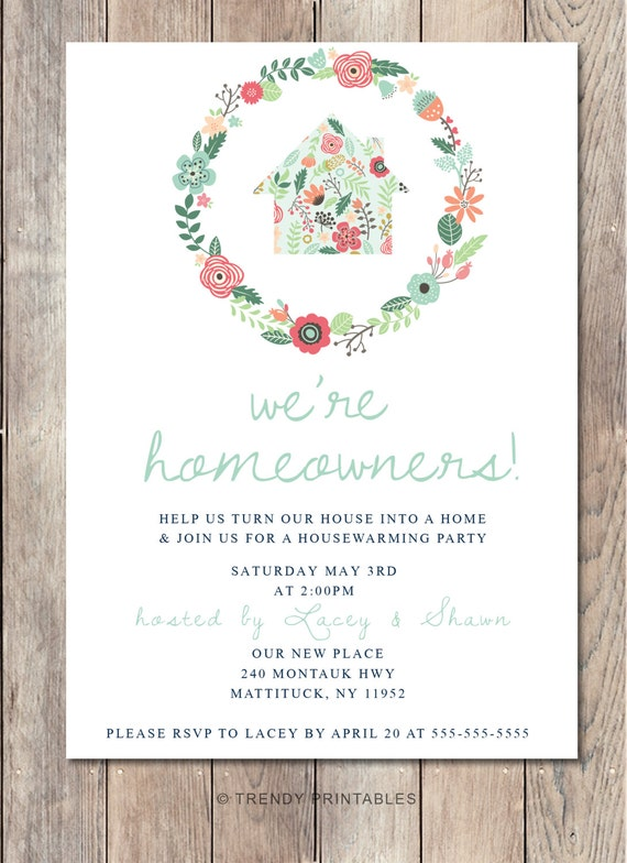 Housewarming Invitation Designs with amazing invitations layout