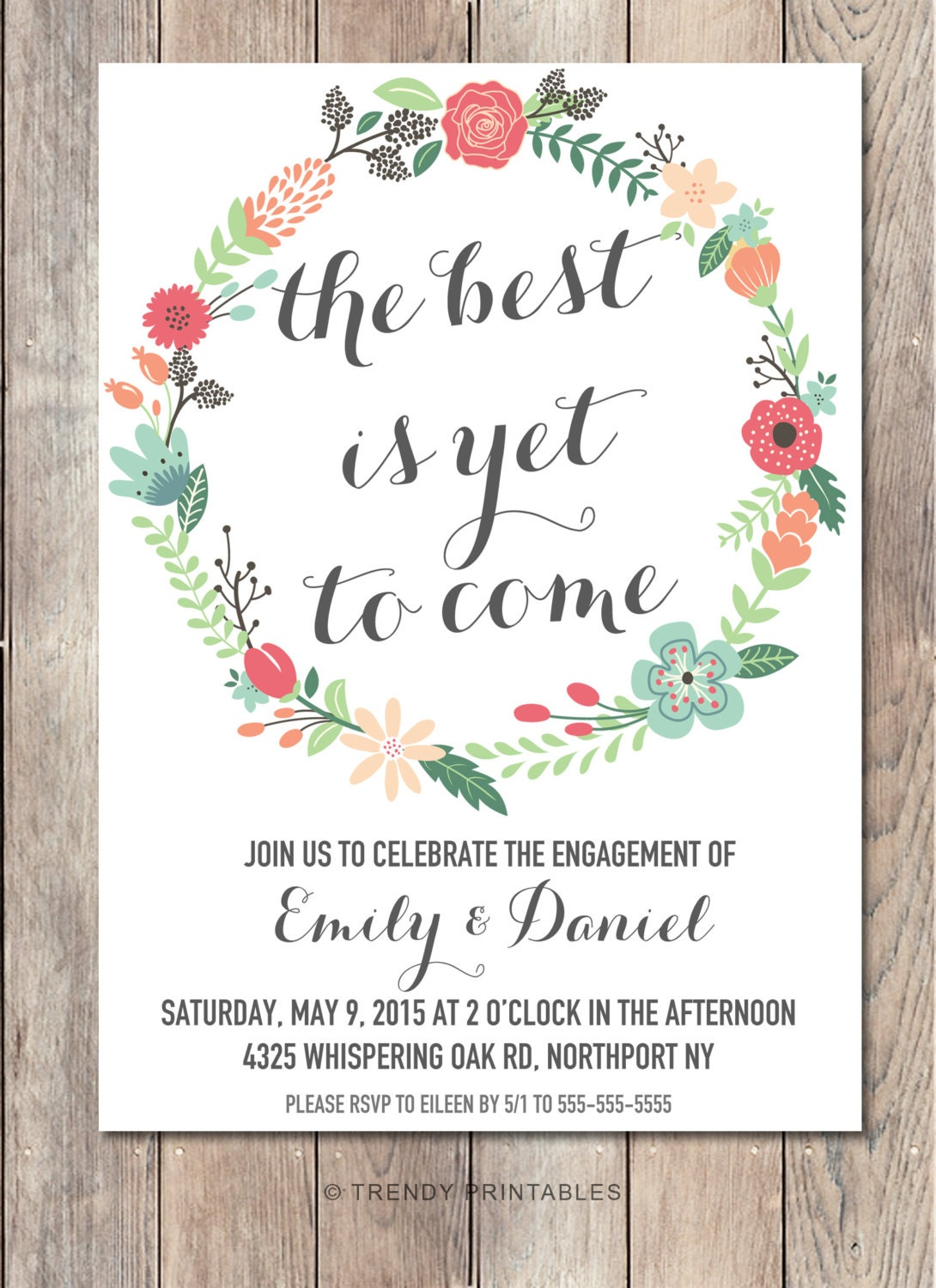 Engagement party invitation printable engagement party for Etsy engagement party invites