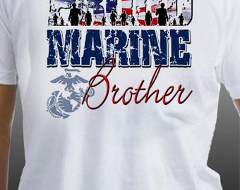 Proud Marine Brother T-Shirt
