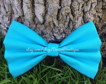Turquoise Hair Bow, Blue Hair Bow