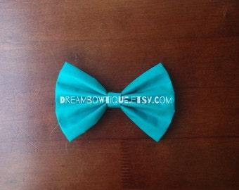 Teal Hair Bow, Blue Hair Bow