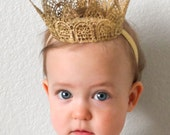 Queen's Lace Crown, Lace Princess Crown, Baby Crown, Gold Crown, Crown, Mini Crown, Lace Crown, Silver Crown, Baby Headband, Crown Headband