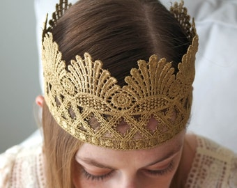 SALE!! The Princess Margaret Crown, Lace Princess Crown, Adult Crown, Child's Crown, Full Head Crown, Gold Crown, Silver Crown, Queen Crown
