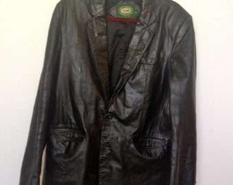 Early 1980's Harper Hill Mens Leather Blazer