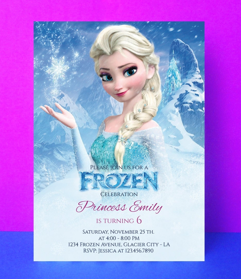 frozen invitation disney frozen birthday by paperpartydesign