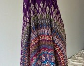 Boho..Bohemian Purple short cotton Sleeveless Dress with Wooden beads embroidery (DS-166)