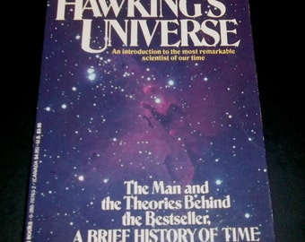 STEPHEN HAWKING UNIVERSE Paperback Biography of  Space Genius 1989 Brief History of Time Author Scientific Theory. Pocket book.