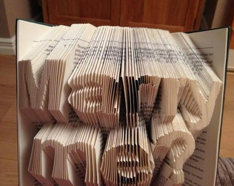 """Book Folding Pattern for """"Marry me?"""""""