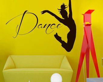 Wall Decals Dancer  Dance Quote Decal Sticker Vinyl Decals Wall Decor Murals Z510