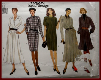 Sale Sewing Patterns! Women's Dress Sewing Pattern, straight or flared, UNCUT Vogue 1441, sizes 14, 16 ,18, Pattern from 1990s.