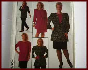 SIZE 28w, Plus Size Sewing Pattern for Womens Top, Pants, Skirt, Jacket, UNCUT Simplicity 8924, size 28W, Eur size 56