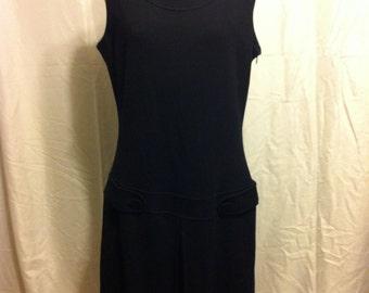 Vintage Calvin Klein Sleeveless Jumper Dress Size 10 Black