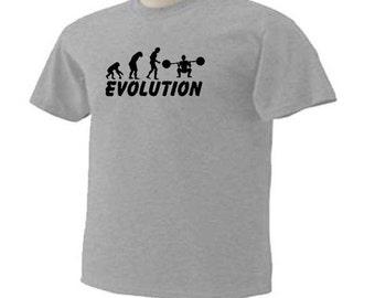 Evolution Weightlifter Body Building T-Shirt