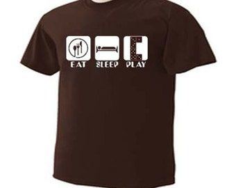 Eat Sleep Play Dominos Domino T-Shirt