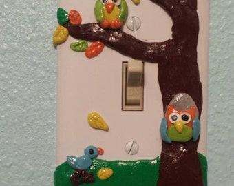 Owl Light Switch Cover Plate