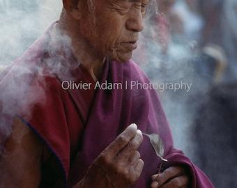 Under the Boddhi tree, Bodhgaya, India, 2002