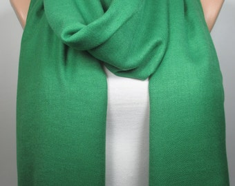 Green Pashmina Scarf Large Scarf Winter Scarf Women Fashion Accessories Gift Ideas For Her Christmas Gift Ideas Holiday Fashion MELSCARF