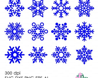 Snowflake Flakes Christmas embroidery clipart Vector Silhouette Cameo Cricut Space Sure Cuts A Lot (SCAL3) EasyCutPrintPD