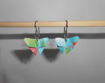 Hypoallergenic Origami Earrings | Butterfly Model