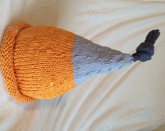 Knitted Knotted Baby Hat