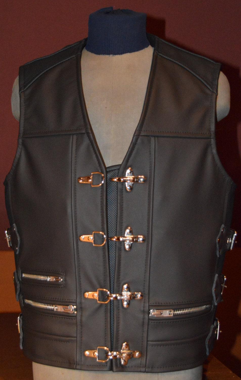 Leather Vest Handmade Biker Vest Motorcycle Vest Genuine