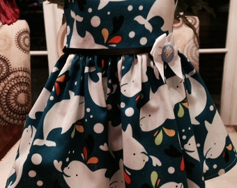 Dolphin dress fits 18 inch dolls including American Girl Doll