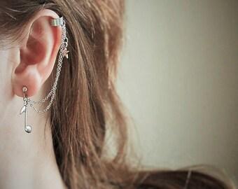 Cartilage cuff earring, Cartilage ear cuff, Ear cuff earring, Silver ear cuff, Silver earcuff earring, Silver cartilage earring