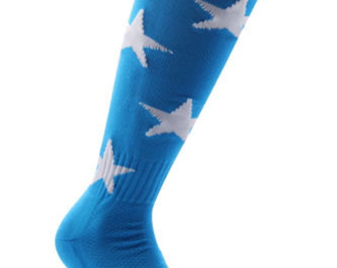 Samson® Stars Funky Socks Sport Knee High Sport Football Rugby Soccer