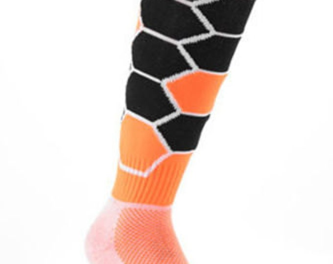 Samson® Hexagonal Funky Socks Sport Knee High Sport Football Rugby Soccer