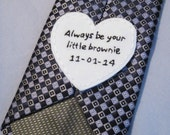 Wedding Tie Patch,Groom Gift,Hand Embroidery,Tie Patch,Father of the Bride,Wedding Gift,Handmade Tie Patch,Custom Groom Gift,Made to Order