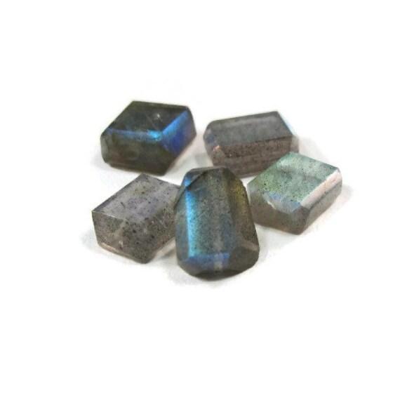 Natural Labradorite Beads, Set of 5 Labradorite Gemstones, 8mm Gemstone Beads for Jewlery Making (L-Lab4)