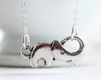 Sterling Elephant Necklace Sterling Silver