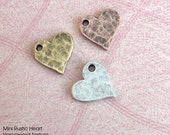 Blank Mini Rustic Heart . Hammered Texture . 1 Tiny Dainty Sweet Heart . Forever in love . Add to your keychain or necklace w/Tipsy Whimsey