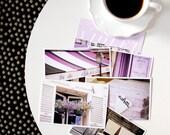 SALE Paris Postcard Set Purple 4x6 Print, Paris Print Art Postcards