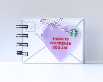 STARBUCKS Valentine's Notebook - Gift Card Covers front and back