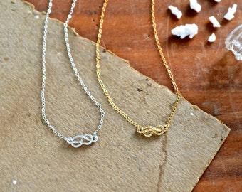 Sailor's Knot Necklace - gold sailors knot necklace, silver rope knot necklace, nautical knot necklace, N25/N26/N27
