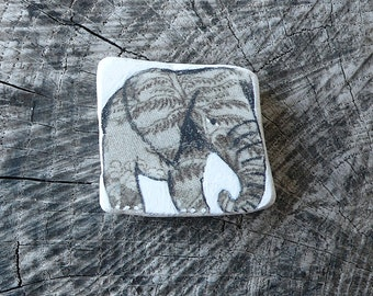 Grey Beach Pottery Elephant - Healing, Totem. Animal Medicine, Spirit Animal,