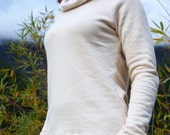 Women's Organic Shirt - Hemp Fleece Christy Cowl - Inventory SALE