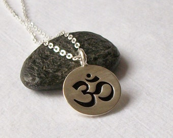 Om Sterling Silver Necklace