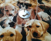 "Reserved 3/4"" Dog-Human Best Friends Necklace in Sterling Silver"