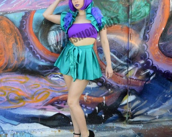 The Joker and Ariel Little mermaid Cosplay apron peplum burlesque  bustle skirt Bolero