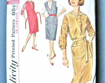 60s Vintage  Simplicity 6067 misses' jumper and blouse pattern   Bust 38 inches