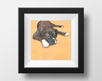Custom Pet Portrait Hand Painted in Gouache - 5x7 inch Portrait using your Photo as a reference - Fun Gift Idea