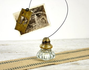 Wire Door Knob Photo Holder, Vintage Photo Holder, Picture Holder, Card Holder