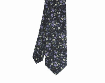 Pip 04 - Purple Floral Men's Tie