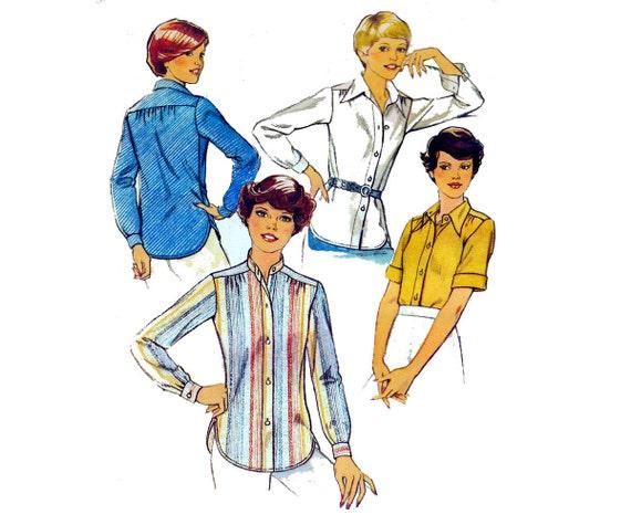 Retro 70 S Silk Blouses 105