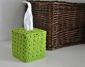 Bright Lime Green Tissue Cover Bathroom  Nursery Decoration Spring Home Decor READY TO SHIP