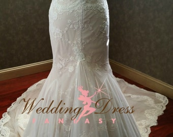 Stunning Mermaid Wedding Dress Custom Made to your Measurements
